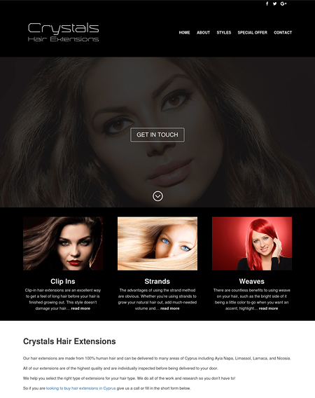 Crystals Hair Extensions