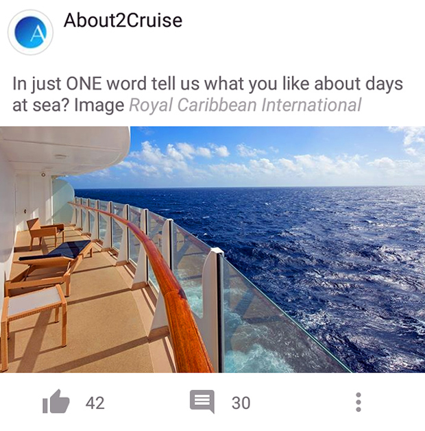 Facebook Marketing - Cruise Travel - Royal Caribbean International