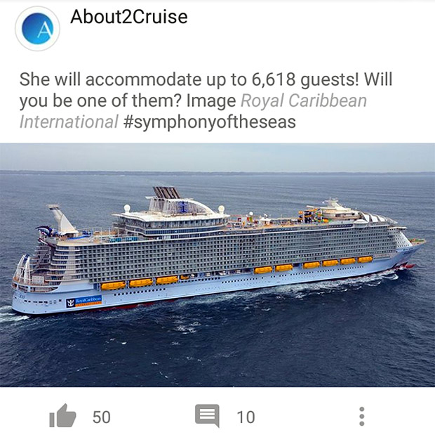 Facebook Marketing - Cruise Travel - Symphony of the Seas