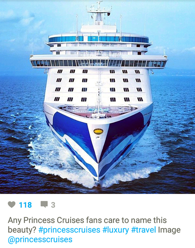 Instagram Marketing - Cruise Travel - Princess Cruises