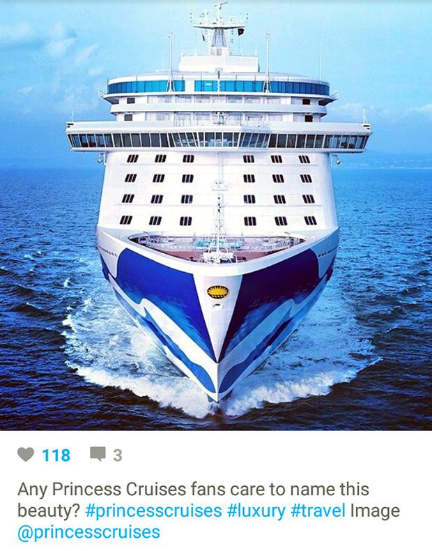 Instagram Marketing - Cruise Travel - Princess Cruises