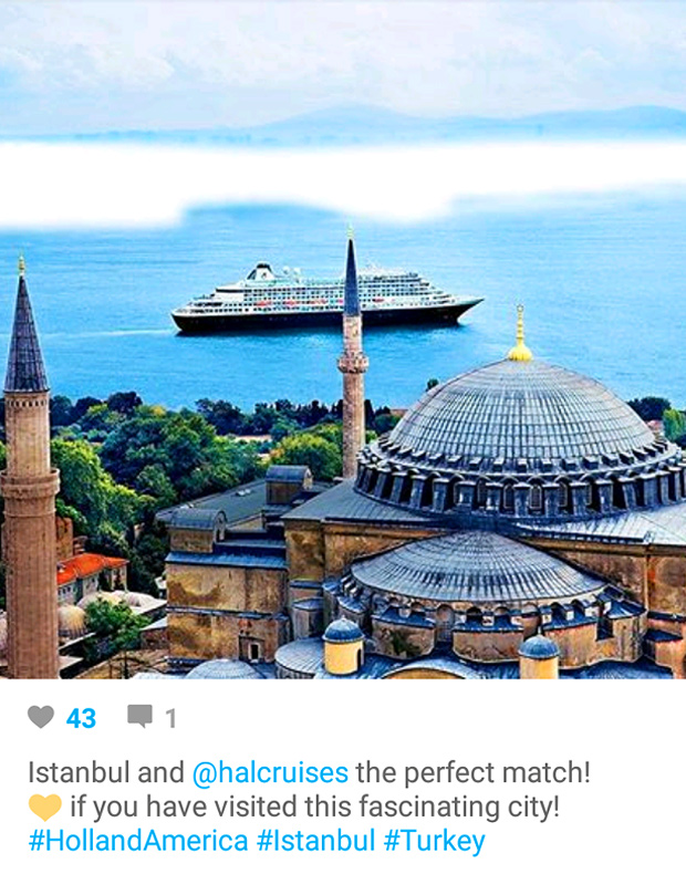 Instagram Marketing - Cruise and Travel - Istanbul