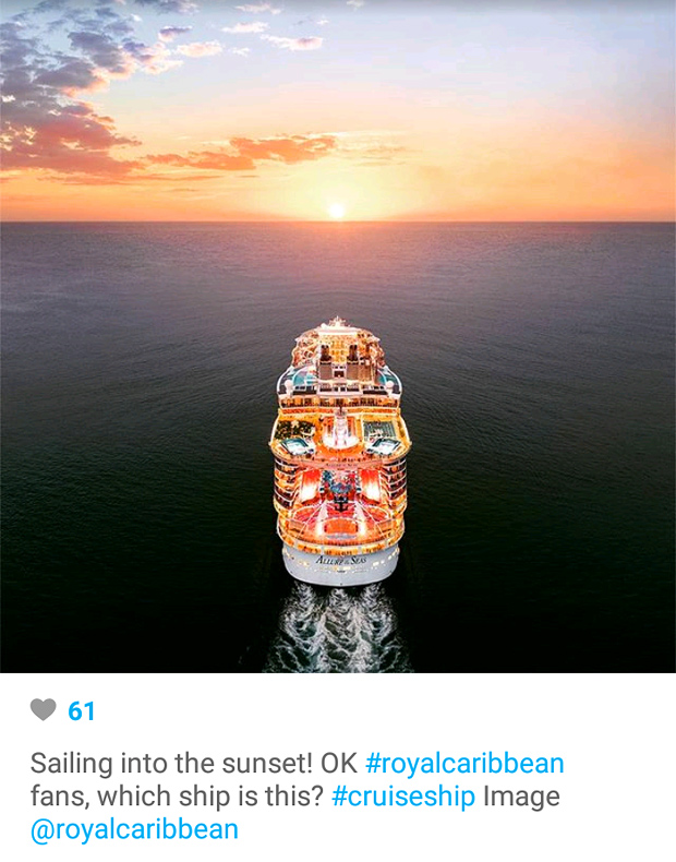 Instagram Marketing - Royal Caribbean Sunset