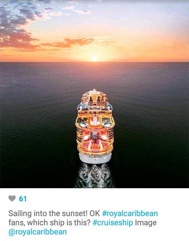 Instagram Marketing - Royal Caribbean Sunset