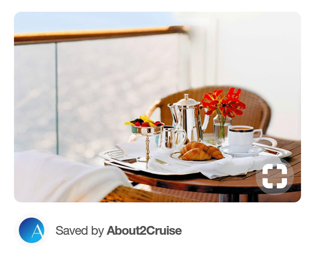 Pinterest Marketing - Cruise Travel - Breakfast at Sea