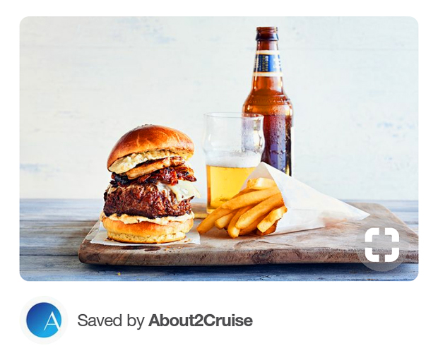 Pinterest Marketing - Cruise Travel - Burger at Sea