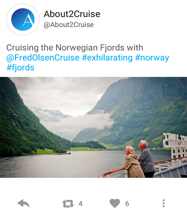 Twitter Marketing - Cruise Travel - Cruising the Fjords