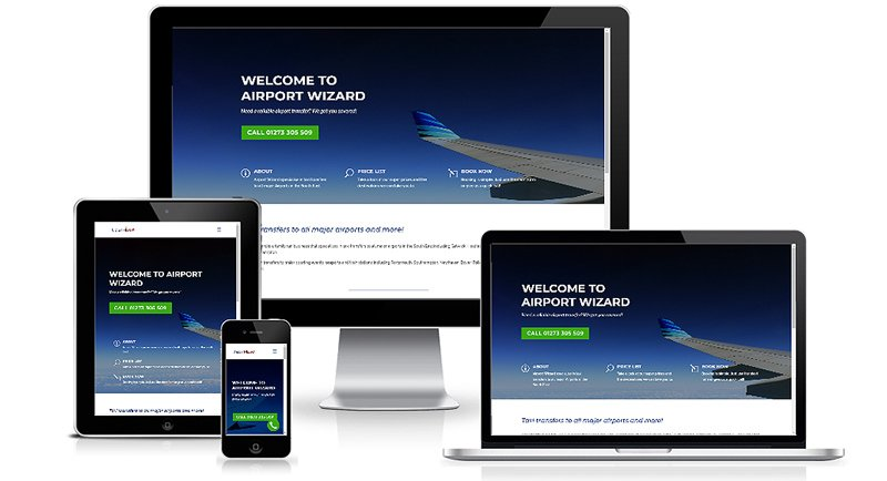 Airport Wizard Brighton Web Design