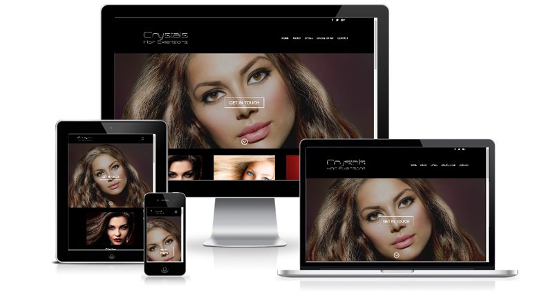 Crystals Hair Extensions Cyprus - Web Design