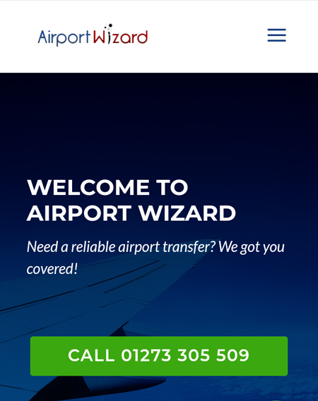 Freelance Web Design for Airport Wizard Taxis