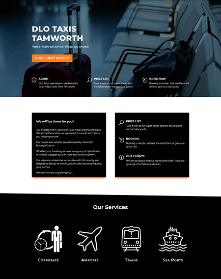 DLO Taxis - Freelance web design by Virtualeap