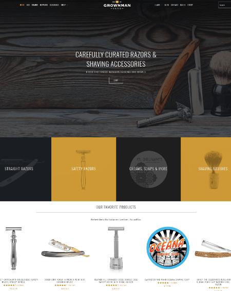 Grown Man Shave Shopify Web Design