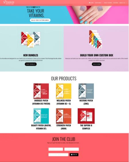 Shopify Web Design Vitamin Shave Club